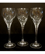 "Three (3) 9"" Elegant Crystal Water Goblets  Le Grand Fleur Oscar De La R... - $43.90"