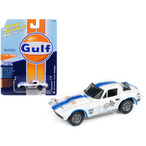 1963 Chevrolet Corvette Grand Sport Gulf #7 White with Blue Stripes Limi... - $14.35