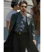 Al Pacino Carlito's Way Brigante Black Real Leather Trench Coat Jacket - $79.19 - $128.69