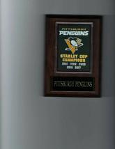 Pittsburgh Penguins Banner Plaque Stanley Cup Champions Champs Hockey Nhl New - $3.95
