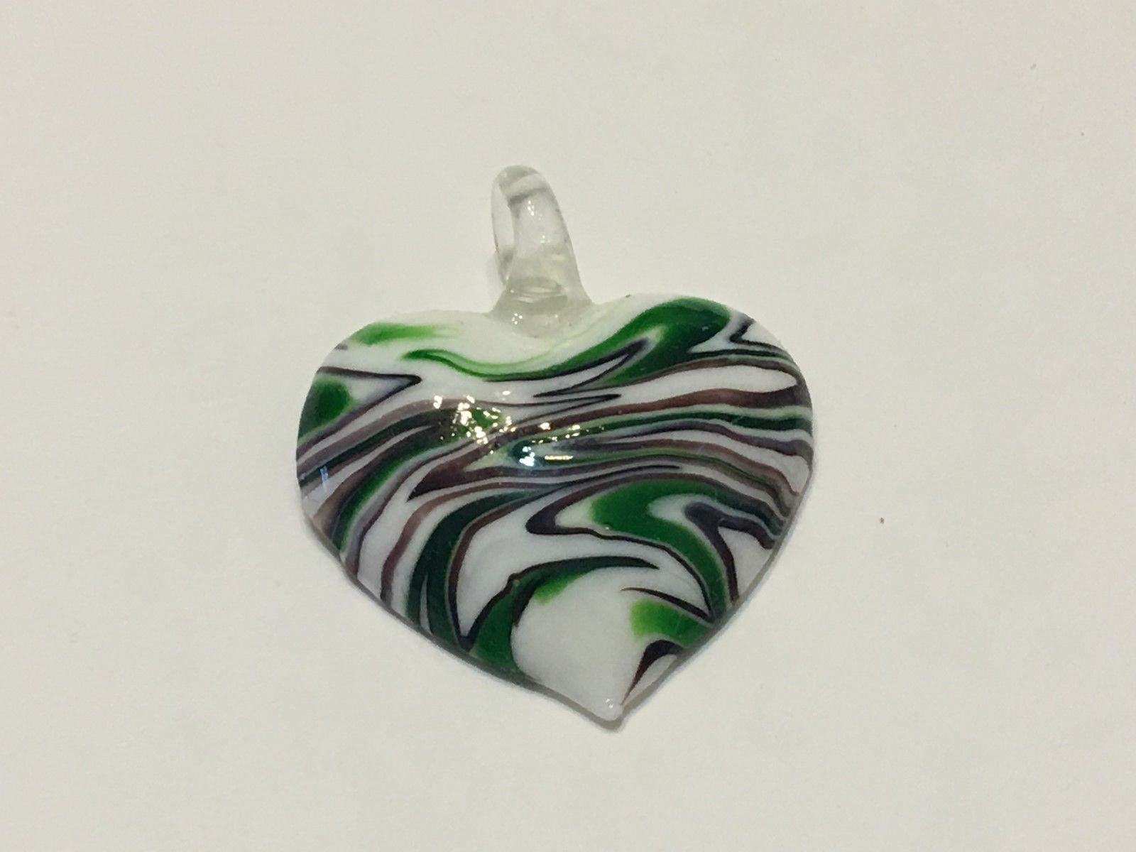 Hand Blown Glass Necklace Pendant ( Ref # 12-7 ) FREE SHIPPING