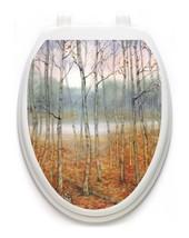 Toilet  Tattoos® Foggy Forest  Vinyl Lid Cover Decor Reusable Decoration - $13.99