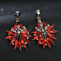 BAHYHAQ - Vintage Crystal Earrings Fashion Party Big Stud Earring - $4.33