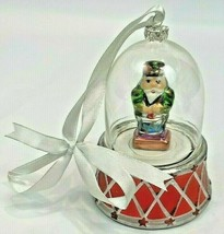 "Mr Christmas Music Box Ornament Snow Globe Musical Drummer Boy Man 5"" Decoration - $24.75"