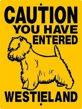 West Highland Terrier Aluminum Dog Sign 1804  9 x 12 aluminum - $14.71