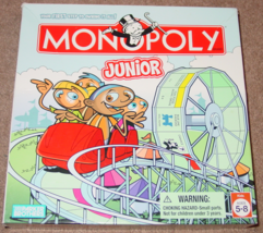 MONOPOLY JUNIOR JR AMUSEMENT PARK EDITION GAME 2005 COMPLETE EXCELLENT - $15.00