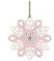 Lenox Gift of Knowledge Breast Cancer Awareness Snowflake Ornament NIB Pink - $24.52