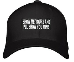 Show Me Yours And I'll Show You Mine Hat - Adjustable Men's Black/White ... - $15.79