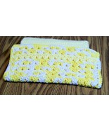 Crochet Dishcloth, Handmade Dishrag, Washcloth, Facecloth, Yellow, White - $12.00