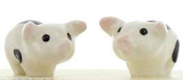 Hagen Renaker Miniature Pig Black & White Piglets Standing - Set of 2 Figurines
