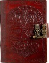 Prsatara Handmade Skull  Embossed Leather Goat Journal Pocket style Colo... - $40.00