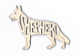 German Shepherd Dog GSD laser cut wood Magnet - $7.51