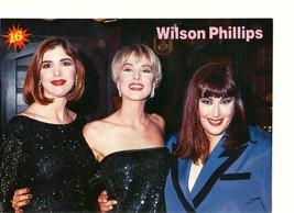 Wilson Phillips Vanilla Ice teen magazine pinup clipping 90's 16 mag sun... - $1.50