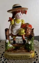 """1971 American Greetings """"To The House of A Friend"""" Flower Girl Figurine - $30.40"""