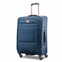 "Expandable 25"" Spinner Luggage Wheeled Suitcase Travel Rolling Denim Jea... - $122.81"