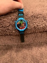 The Avengers Marvel Comics Superhero Accutime Watch  Black Band Lights Up! - $15.00