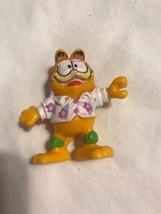 "VINTAGE 1981 GARFIELD 2"" ROLLER FIGURE CAKE TOPPER FIGURINE Garfields Ha... - $7.13"