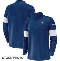 NFL Indianapolis Colts Nike Men's Quarter-Zip Pullover Jacket, Blue, Medium - $64.34