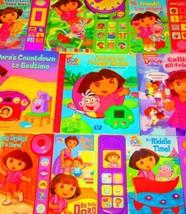 Dora the Explorer Book Lot of 9-Play-A-Sound/Song INTERACTIVE-Come to Li... - $48.46