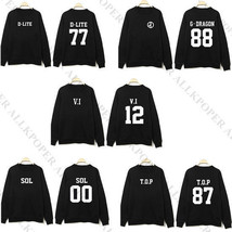 KPOP Bigbang Sweater Unisex G-Dragon Hoodie TOP Sweatershirt T.O.P Long ... - $11.29+
