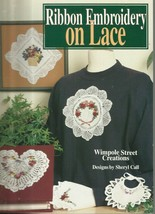 Ribbon Embroidery On Lace-Wimpole Street Creations Designs by Sheryl Call - $5.86