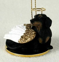 DACHSHUND (BLACK TAN) ANGEL DOG CHRISTMAS ORNAMENT HOLIDAY  Figurine Statue - $14.99