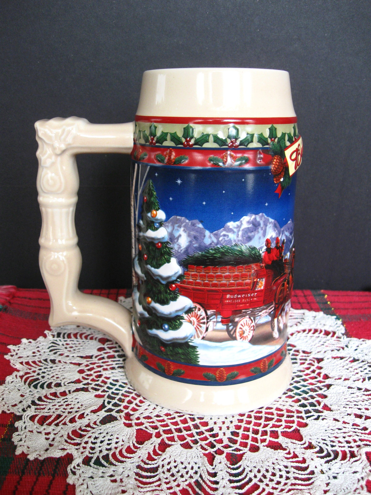2003 Budweiser Holiday Stein - Old Towne Holiday - No. CS560 - No Box