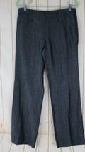 Ann Taylor Loft Pants 8 Blue Linen Cotton Blend Machine Wash Lightweight Trouser - $38.61