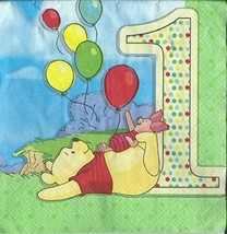 Disney Pooh and Pals 1st Birthday Lunch Napkins - $16.78