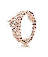 Rose Gold Plated Princess Tiara Ring For Women QJCB1035 - $20.88