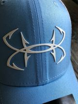 Under Armour Fish Hunter Trucker Hat in Carolina Blue Stretch Fit OSFA M/L image 6