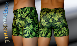 Thunderbox Cannabis Leaf Pattern Titan Style Mens, Womens Shorts  S, M, L, XL - $20.00