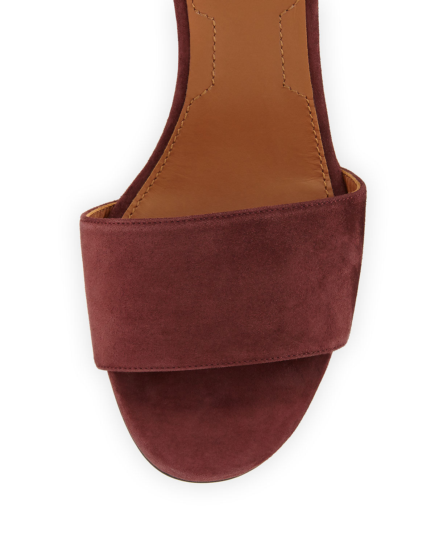Givenchy Paris Suede Ankle-Wrap Sandals Size 37.5  MSRP: $595.00
