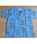Dear God Kids V Neck Scrub Uniform Top Shirt Nurse Medical Medium New NW... - $18.80