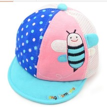 Bee Breathable Infant Beaked Cap Baby Boy Sun Protection Hat Toddler Cap Teal image 1