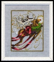 "NC121 ""RUDOLPH"" XMas Eve Couriers by NORA CORBETT XSTITCH CHART & EMBELL... - $39.59"