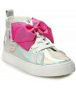 NWT Jojo Siwa Iridescent Bow Shoes High Tops Size 2 - $31.68