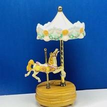 Carousel horse music box figurine statue sculpture vtg decor Willitts Ed... - $67.50
