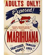 "1930's Vintage 16""x23"" Marihuana Marijuana Adults Only Movie Anti Drugs Poster - £11.88 GBP"