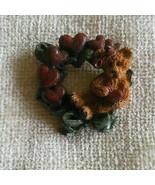 Boyds Bears Simone In Heart Wreath Pin/Brooch - $14.99