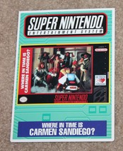 Where in time is Carmen Sandiego Vidpro Promo Sign Display Super Nintendo SNES - $9.89