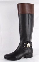 Michael Kors Mujer Harland Botas Cuero Negro Moca Botas de Montar Talla 6M - $98.22