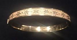 Vintage A & D Rolled Gold Bangle Bracelet Hinged - Excellent - $41.93