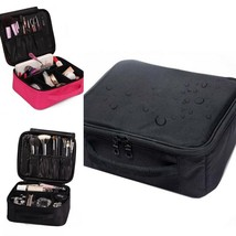Bag Cosmetic High Quality Portable Travel Zipper Makeup Designer Trunk O... - $461,25 MXN