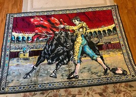 "Vintage Spanish Bull Fighting Matador Coliseum Wall Art Tapestry 72"" x 4... - $148.50"