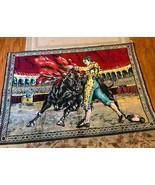 "Vintage Spanish Bull Fighting Matador Coliseum Wall Art Tapestry 72"" x 4... - $148.50"