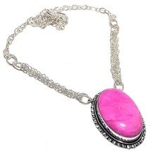 "Pink Opal Gemstone Handmade Jewelry Necklace 18"" RN340 - $5.99"