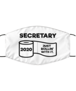 Funny Secretary Face Mask, Just Rollin' With It, Unique Christmas Face  - £12.25 GBP