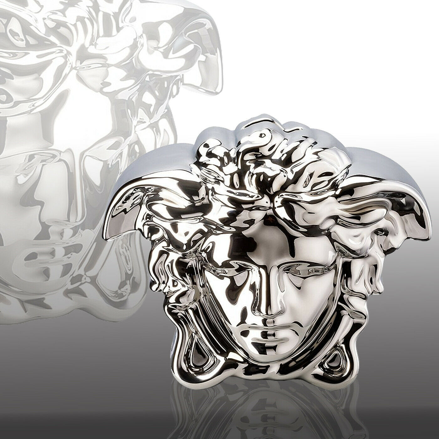 Primary image for  Versace by Rosenthal Money Box Silver H14,5 cm / H5.7 In BREAK THE BANK NEW
