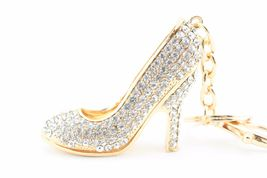 White Heels Shoes Stiletto Fashion Keychain Crystal Charm #MCK11 - $18.17
